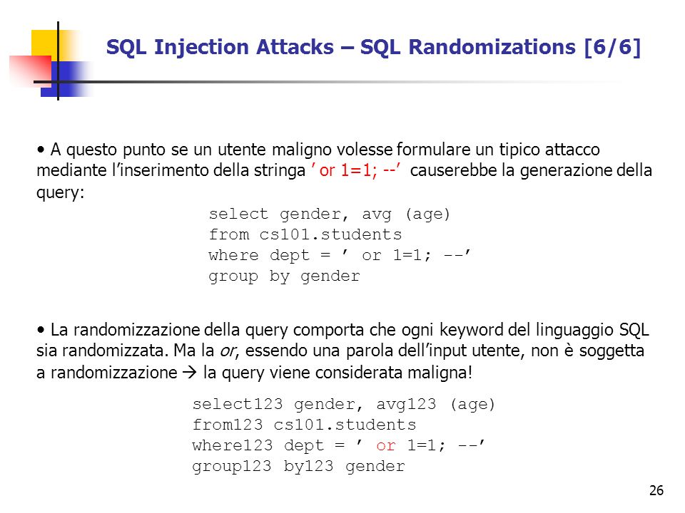 SQL Injection Attacks – SQL Randomizations [6/6]